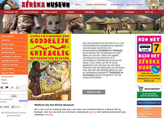 Recordaantal bezoekers op website Afrika Museum