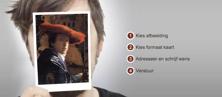 Nieuw: website voor het online versturen van échte kunstkaarten
