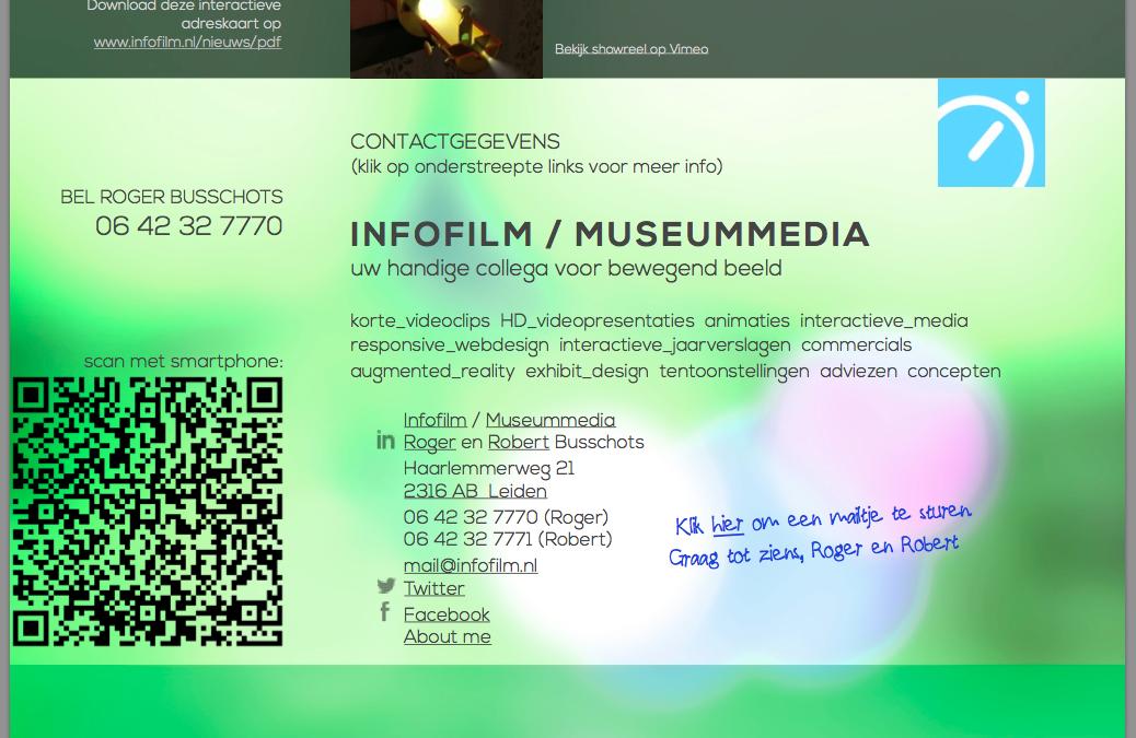 Download interactieve adreskaart van Infofilm/Museummedia