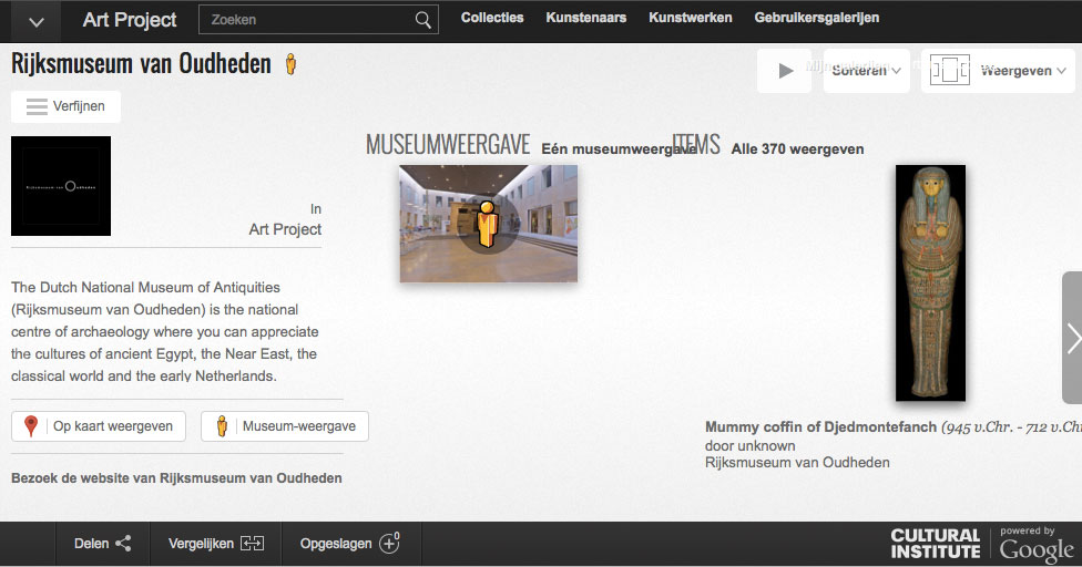 Rijksmuseum van Oudheden op Google