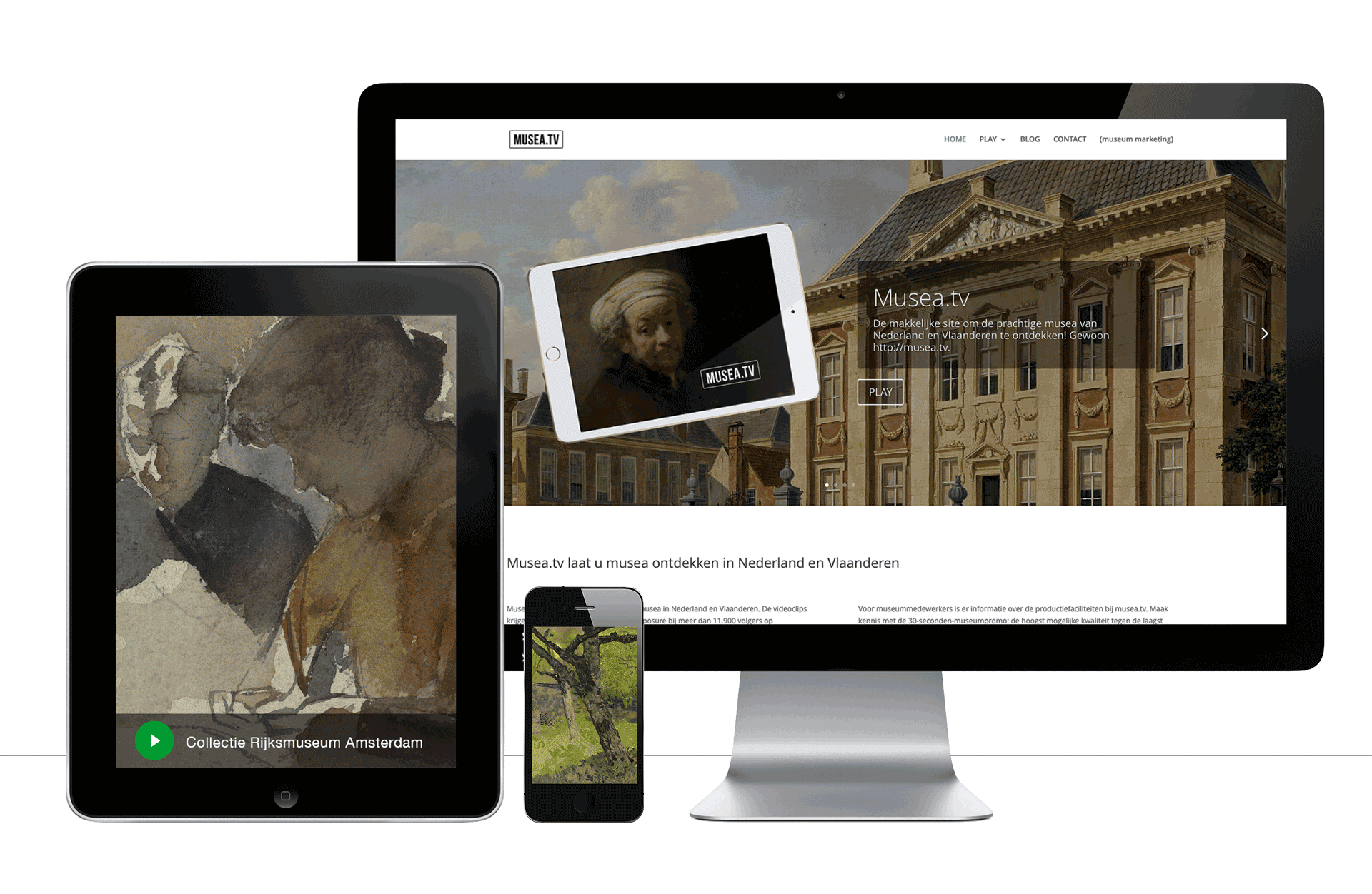 musea-tv op desktop, tablet en phone