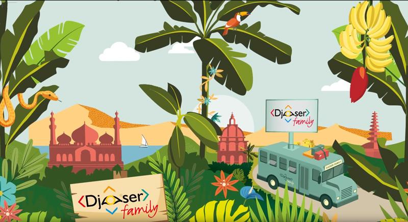 Animatie Djoser Family Ontdek de wereld met je kinderen